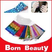 Nail Art Foil,Hot 50designs(20packs/lot)Transfer Nail Wrap Decals,DIY Beauty Salon Nail Craft,Nail Accessories Decoration Tools