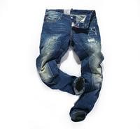 2014 new fashion famous brand men jeans, Vintage color casual jeans A++++ quality denim slim fit