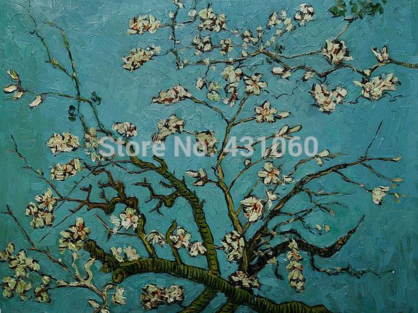 Ramos de uma amendoeira em flor decoração de pintura de Vincent Van Gogh óleo sobre tela alta qualidade pintados à mão(China (Mainland))
