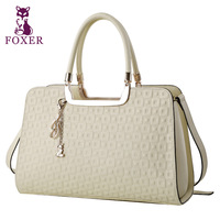 FOXER women leather handbags designer brand new 2014 women travel bags genuine leather totes lady wristlets evening shoulder bag
