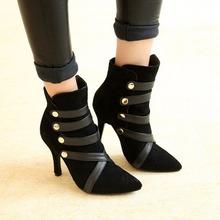 Soft leather waterproof watch beautiful fashion shoes size 4-8 elegant lady European style(China (Mainland))
