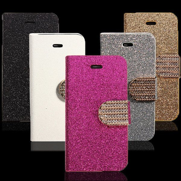 C393 Bling Diamond Rhinestone Button Sparkle Glitter Flip Leather Hard Card Slots case Wallet For Samsung Galaxy S3 III i9300(China (Mainland))