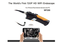 HD 720P Wireless WIFI Endoscope Video Inspection Snake Camera 1M 2.0 Mega Pixles for Smartphone  tablet PC Free fashion tool bag