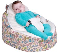 Free shiping wholesale baby bean bag/baby bed, waterproof base BIRDS Design Baby Toddler Kids Portable beanbag Seat