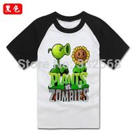 Summer plants vs zombies T-shirt children's clothes fashion family parent-child outfit TZ037