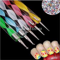 1pc 2 Ways Dotting Pen Nail Art Marbleizing Tool Pen Dots HOT Sale!!! #01-0097_1