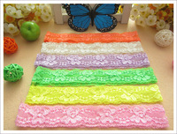 60pcs Rose Overlock hair elastic headband for baby girl hair accessories fold over knit hairband hair ribbon band