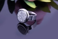Hot New European and American style Super personality unique set auger ring gift jewelry free shipping