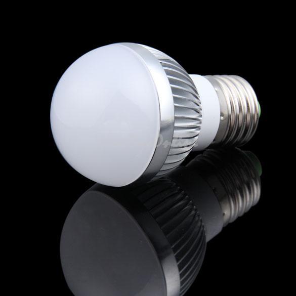 E27 3W Pure White LED High Power 6000K Globe Light Lamp Bulb 85-265V AC K5BO(China (Mainland))