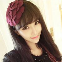 New Items Fashion Hair Jewelry Fabric Big Flower Headbands Hairbands Hairwear Hair Accessories for Girls Hair ornament