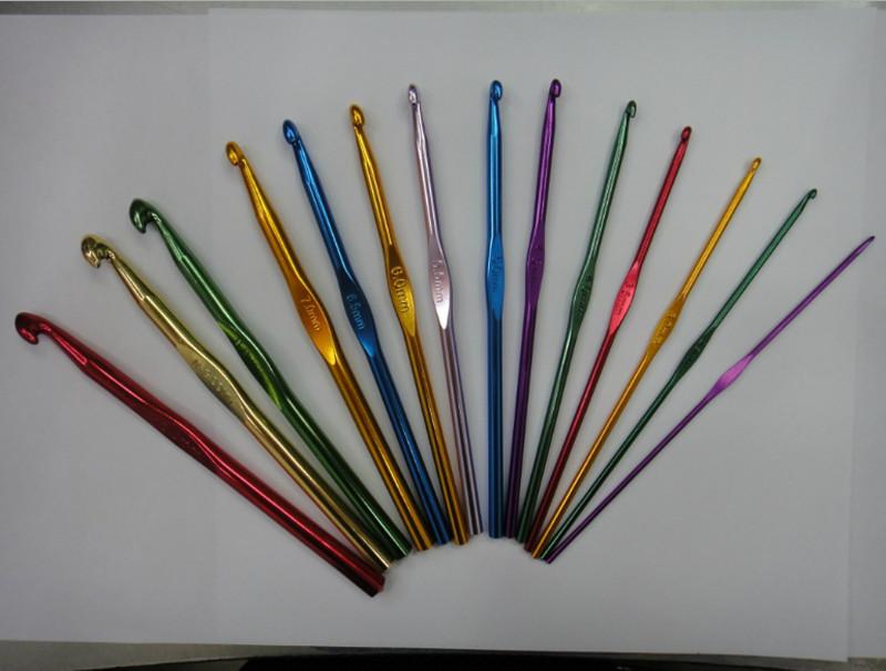 Set De Baño En Crochet Con Una Aguja:set Gancho de aluminio multicolor Mano Crochet aguja de tejer Set de