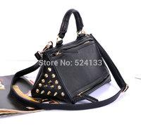Vintage Triangle gold Rivet Messenger Multi-pocket Diagonal shoulder bag Portable mini handbag yy86
