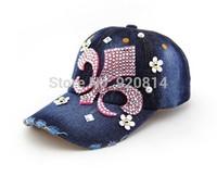 Standard grade tide female flowers cowboy baseball cap visor hat lady cap influx of summer sun