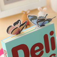 New 140PCS Beautiful 3D Butterfly Bookmark For Birthday Christmas Gift #8362