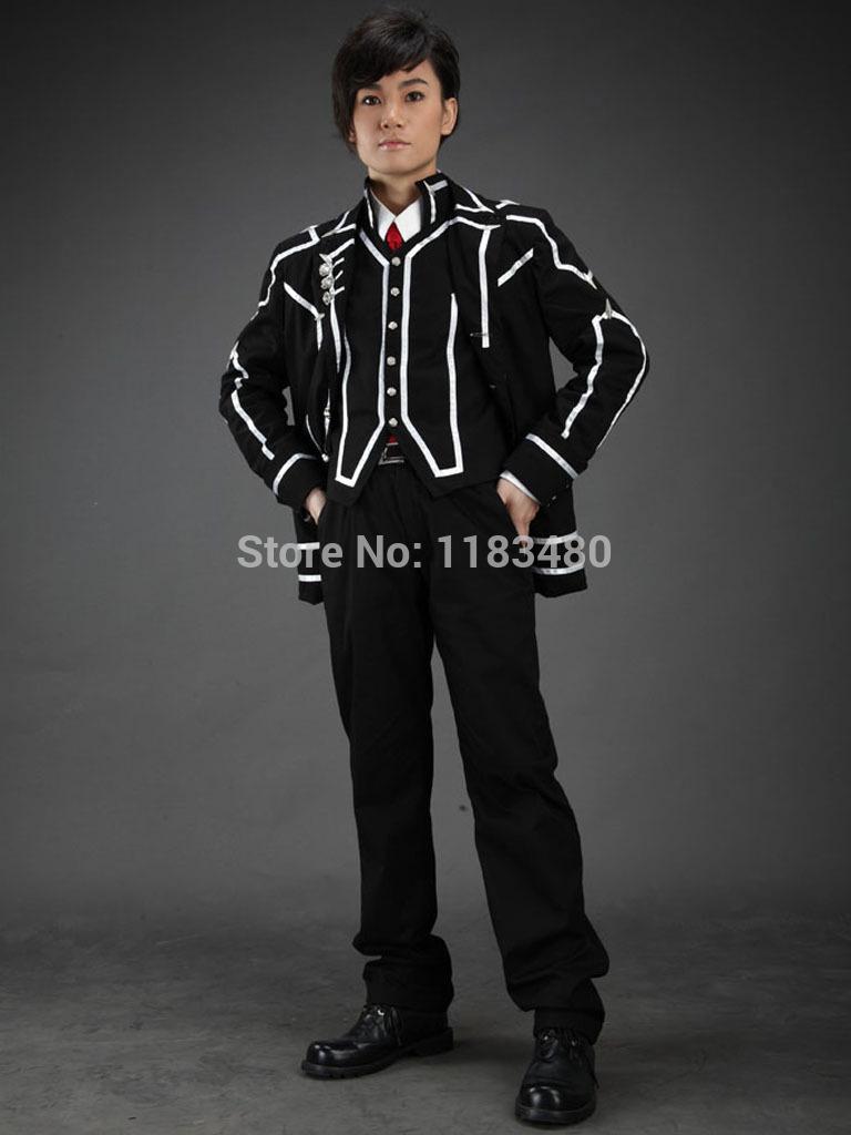 Do dia frete grátis Vampire Knight Cross Academy Classe Boy Uniforme Escolar Cosplay dos desenhos animados roupas Desempenho(China (Mainland))