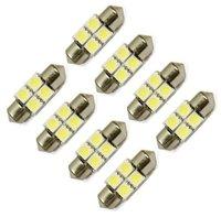 DC 12V 31mm 4 SMD 5050 LED Bulb White for 3022 DE3022 3175 DE3175 Festoon Dome Light LED Bulbs Free Shipping