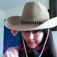Free shipping summer straw cowboy  large brimmed hat beach jazz  Sun hat
