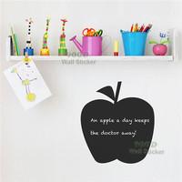 Apple pattern chalkboard wall sticker, Vinyl waterpoof  Removable chalkboard,Free Shipping