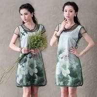 2014 new spring and summer  women's national wind original Dress dress  women