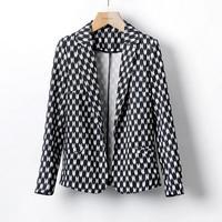 Chaquetas Mujer Blaser Feminino Women Regular Small Blazer A Little And Dots Fabric Drape Suit Outerwear 2014 New Wear Hot Sale