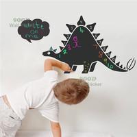 Dinosaur chalkboard wall sticker, Vinyl waterpoof  Removable chalkboard,Free Shipping