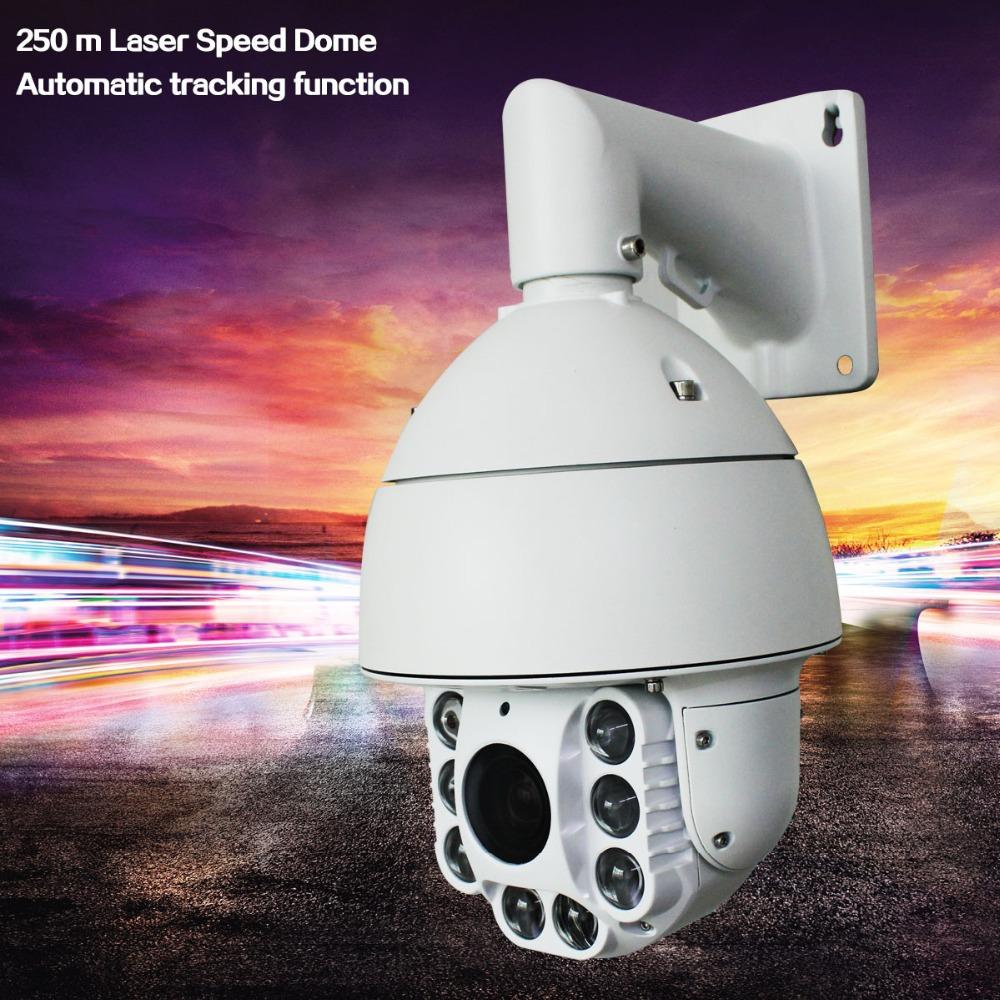 250 m infrared laser 7 inch 700TVL 1/3 Sony outdoor 36x IR Auto tracking High speed dome36x ptz camera cctv camera(China (Mainland))