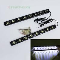 "2Pcs E4 New Style Fashion ""Eagle Eye"" High Power 8LEDs 10W Waterproof E4 DRL Daytime Running LED Light Lamp (Show White Light)"