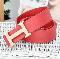 New arrive 2014 New Fashion Design  Women's Men's Belt PU  Strap With Metal gold Buckle Women&Men belts  for wholesale pice