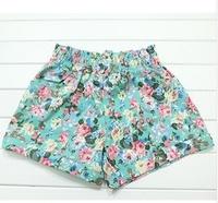 2014 laciness pleated shorts fancy shorts all-match elastic fresh high waist shorts  hot selling