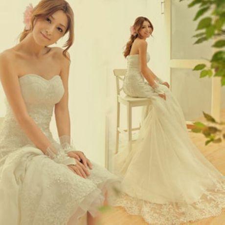 De luxe français bra dentelle coréens, palais. coréens, oscillants. fishtail 2014 nouvelle mariée mariage robe de mariée