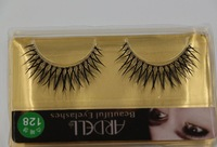 Hot sell ! High Quality 10 pairs crystal simulation false eyelashes black fake eye lash   ab491
