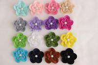 Felt Flowers Hair Flowers Pearl Flower,Baby girl children hair accessories 7.5cm 1000pcs