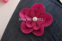 Felt Flowers Hair Flowers Pearl Flower,Baby girl children hair accessories 7.5cm 100pcs