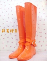 free shipping,2012 British new fashion shining color flats women wellies boots,rain boots,woman water shoes,winter boots