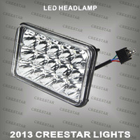 "4"" x 6"" led truck lights  45W high/Low beam in the one used for driving working used Brand chips KR7451 CREESTAR Brand lights"