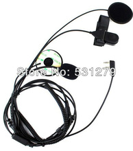 10x Motorcycle Helmet Headset walkie talkie for ICOM IC-F21 IC-F26 IC-IV8 IC-F3S portable radio with Finger PTT J0310A