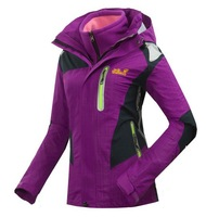 Ms. ski suit / classic outdoor jackets / thick warm hiking camping mountaineering jacket 3in1