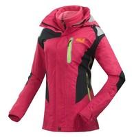 Brand women mountaineering jacket waterproof windproof outdoor sports jacket / winter outdoor ski clothing free shipping