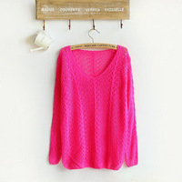 2014 New hot sale Brand women Pullover candy colors famale casual sweater retail knitwear women pullovers