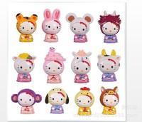 Anime around 12 zodiac kt,  Hello Kitty doll hands do doll toys