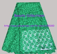 Free shipping!!! French lace chemical lace Guipure lace Cord lace fabric  FL00941 green 5 yards a piece retail/wholesale