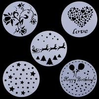 Spray 5 piece set cake print sugar sieve West dessert pattern decoration baking tools
