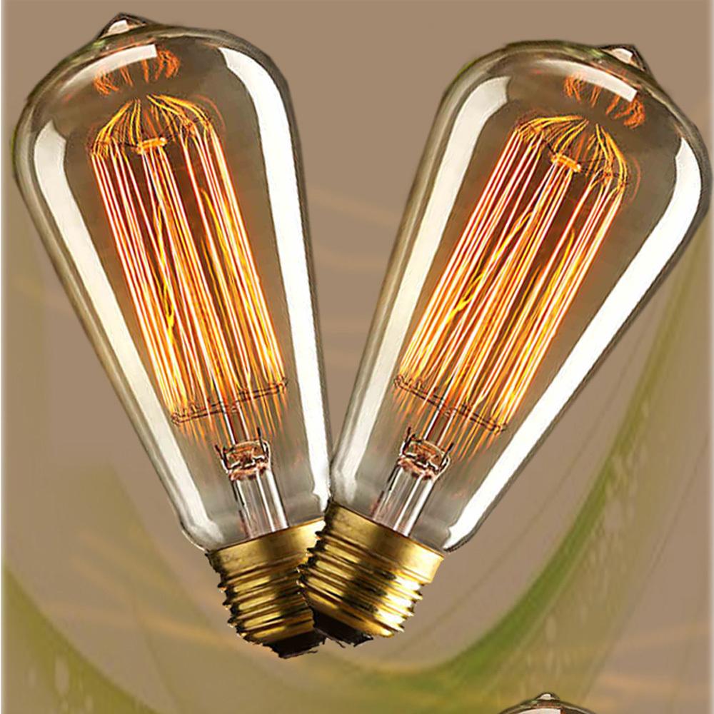 4 stück Jahrgang edison klarglas glühbirnen 40w e27 glühlampen seide glühbirne Indoor/außendekoration 110v 220v