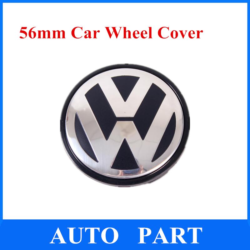 HOT 56mm Wheel Hub Cover Cap Emblem for VW Beetle Bora Jetta Golf Passat Polo 1J0601171 / 1J0 601 171 4Pcs Free Shipping(China (Mainland))