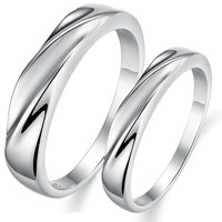 Cheap Fashion Jewelry Wholesale Platinum Plated Copper Couple rings Set For Lovers