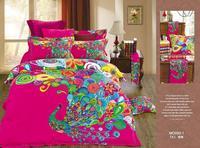 Peacock sanding bedding set wedding 100% cotton comforter quilt duvet cover sheet  flower king queen fantasy bedclothes