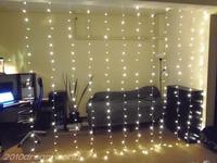 Free Shipping Warm White,3Mx3M,Led Curtain Lights String Christmas Xmas 110V/220V Wedding lights