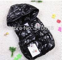 Retail: babys winter hoody coat Kids clothes Winter Jacket Children clothing coat Down Vest,baby warm vest