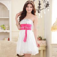 Free Shipping Fashion Uncommon New 2014 Dress White