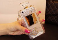 2014 Luxury 3D Bling Rhinestone Crown Love Perfume Bottle Mobile phone Case for iPhone 4/5 for Samsung S3/S4/S5/Note2/Note3 Case